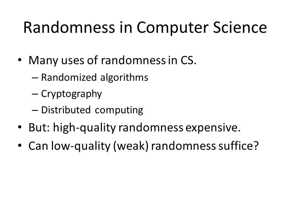 Randomness in Computer Science
