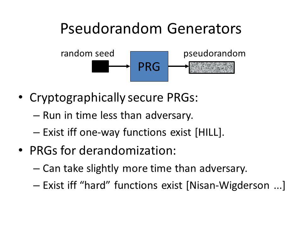 Pseudorandom Generators