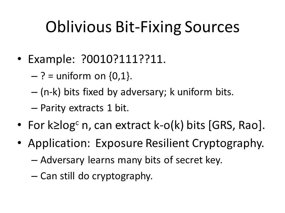 Oblivious Bit-Fixing Sources