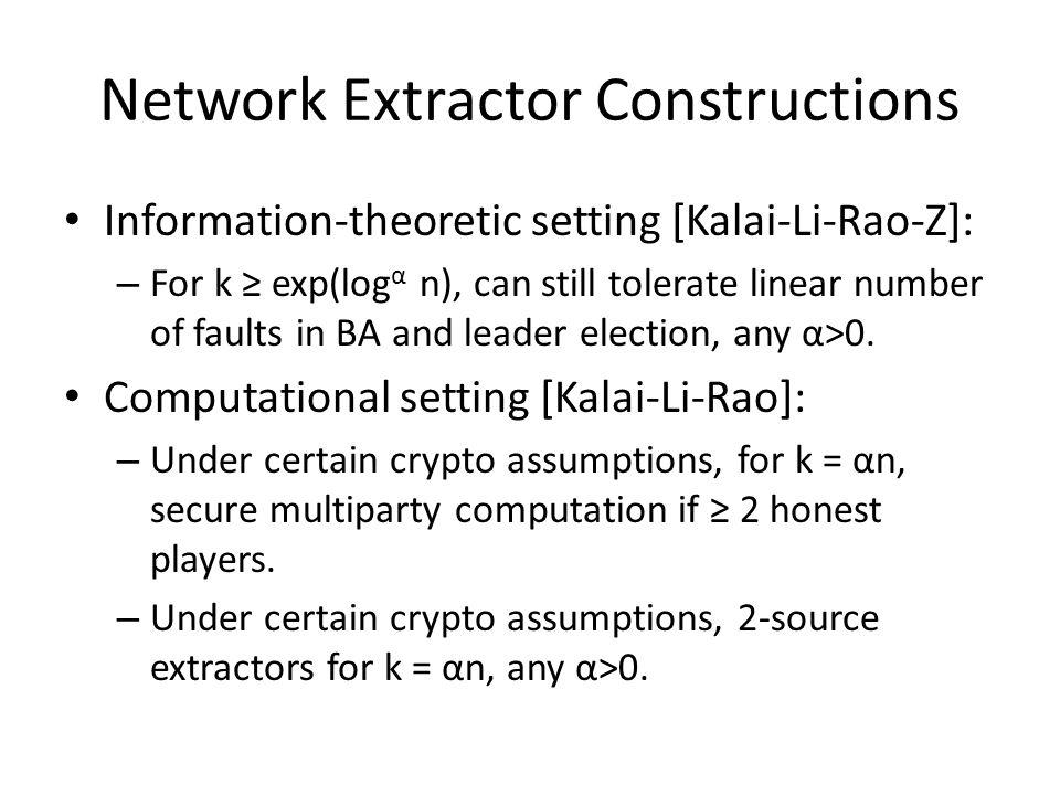 Network Extractor Constructions