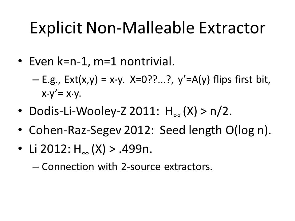 Explicit Non-Malleable Extractor