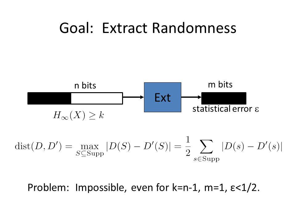 Goal: Extract Randomness