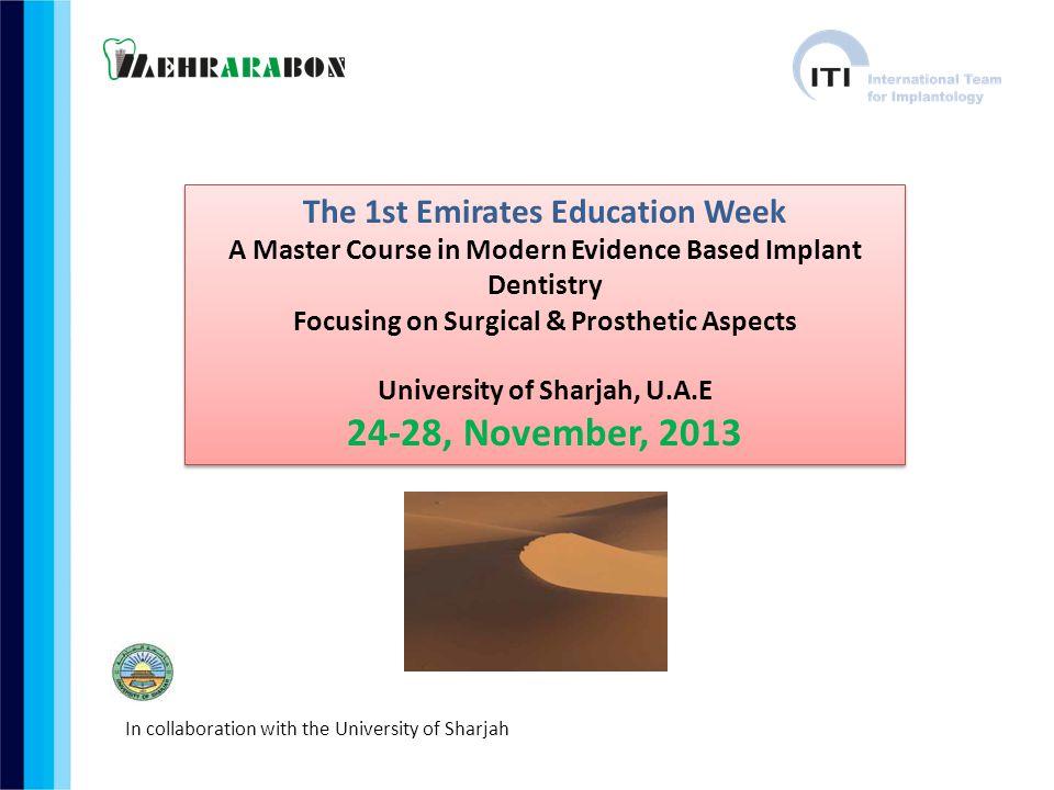 24-28, November, 2013 The 1st Emirates Education Week