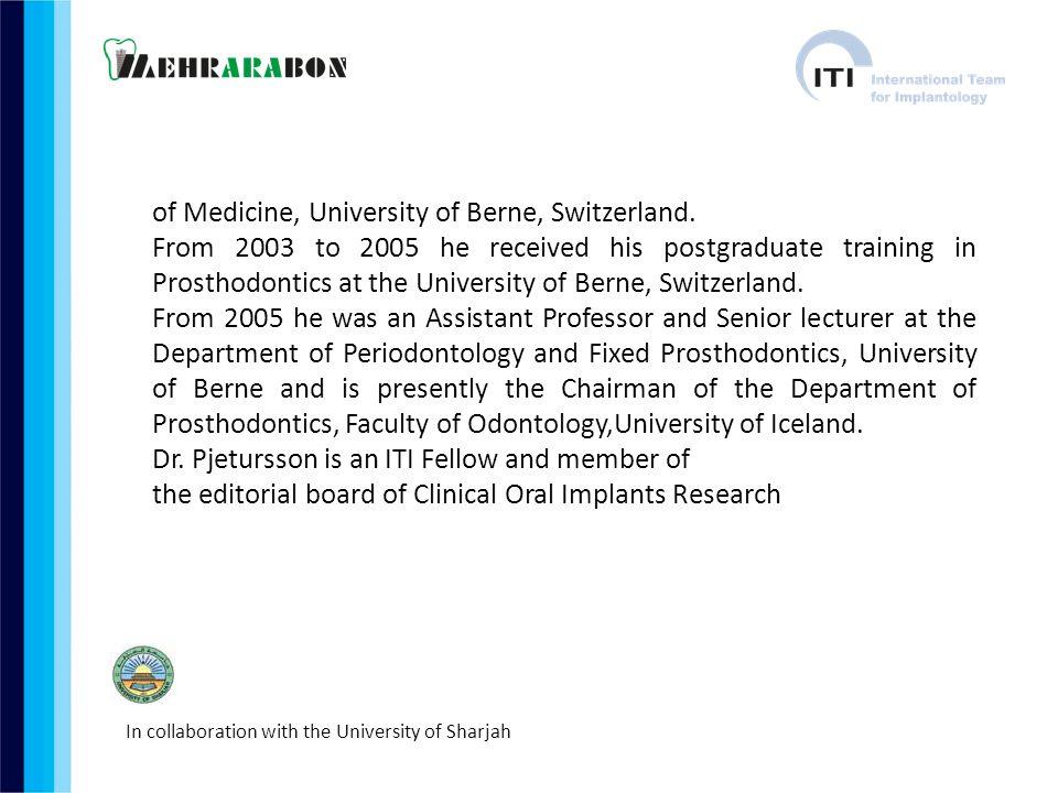 of Medicine, University of Berne, Switzerland.