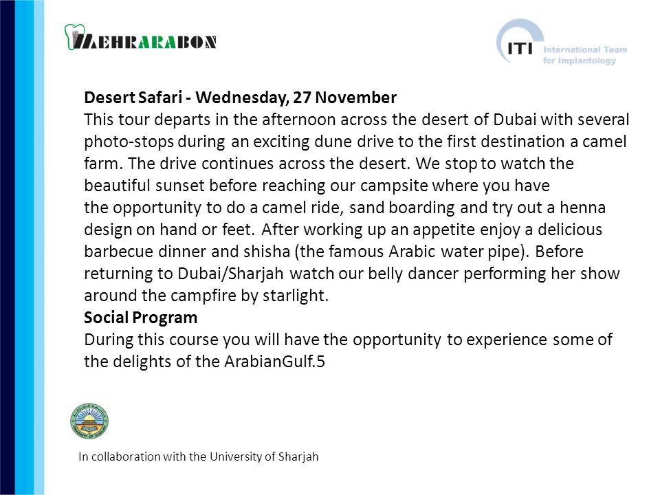 Desert Safari - Wednesday, 27 November