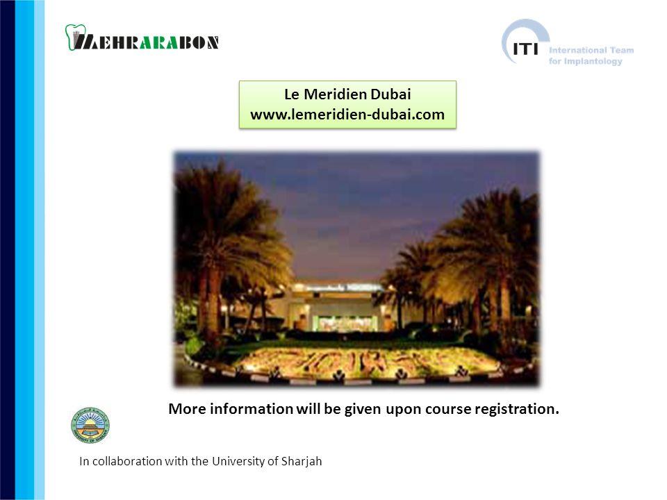 Le Meridien Dubai www.lemeridien-dubai.com