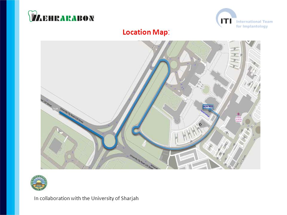 Location Map: In collaboration with the University of Sharjah