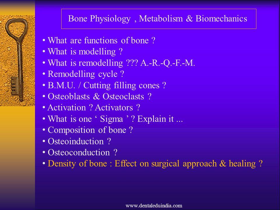 Bone Physiology , Metabolism & Biomechanics