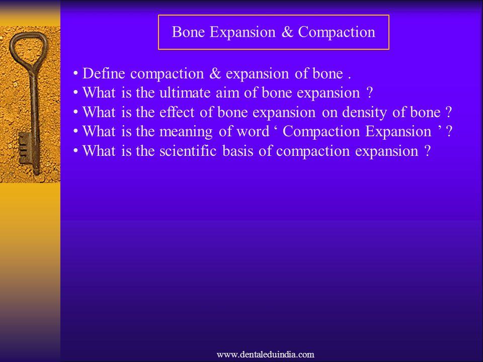 Bone Expansion & Compaction
