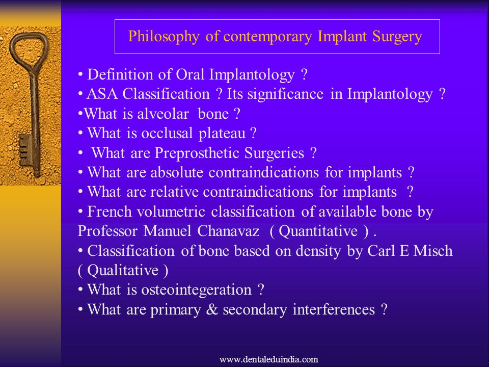 Philosophy of contemporary Implant Surgery