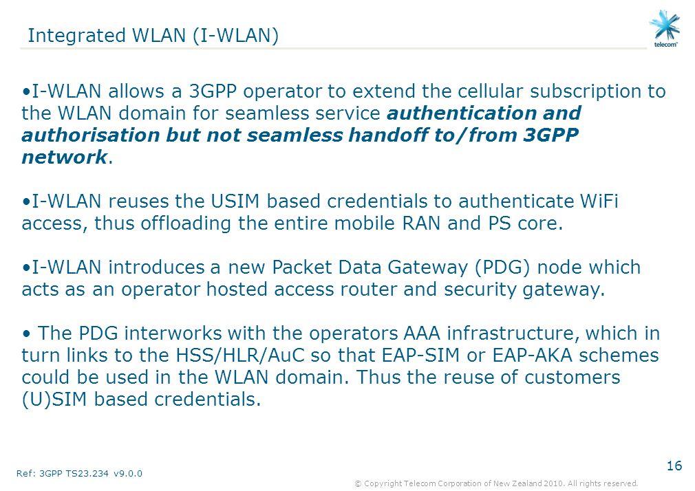 Integrated WLAN (I-WLAN)