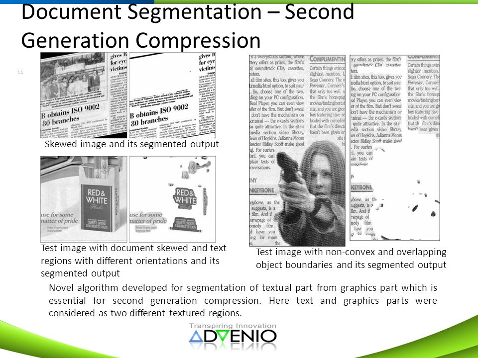 Document Segmentation – Second Generation Compression