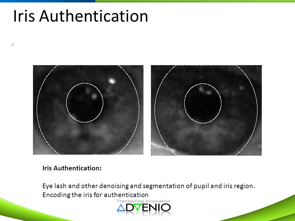 Iris Authentication Iris Authentication: