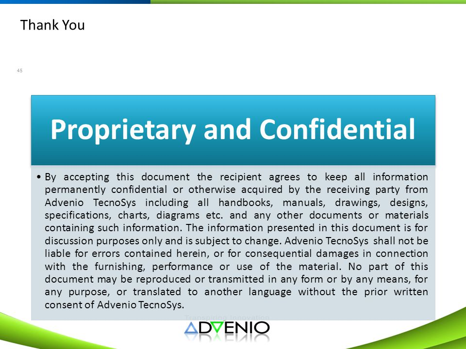 Proprietary and Confidential