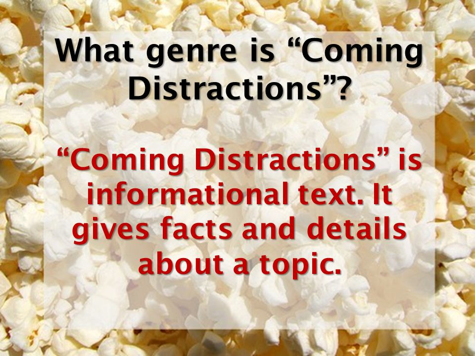 What genre is Coming Distractions
