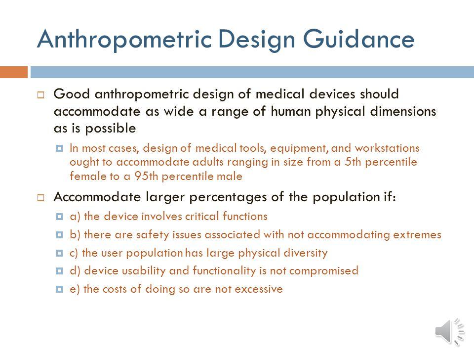 Anthropometric Design Guidance