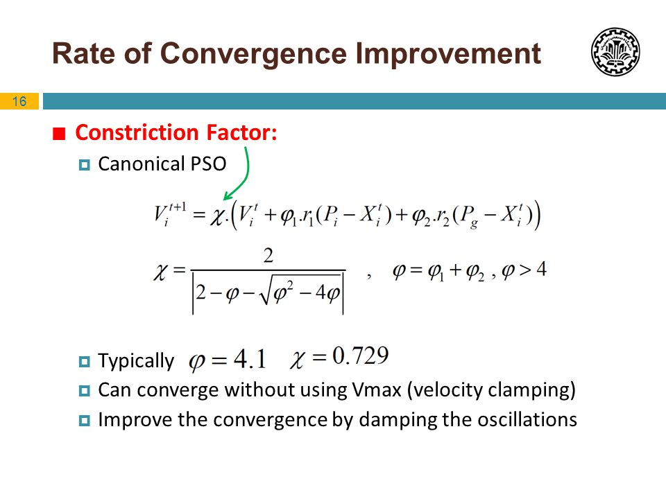 Rate of Convergence Improvement
