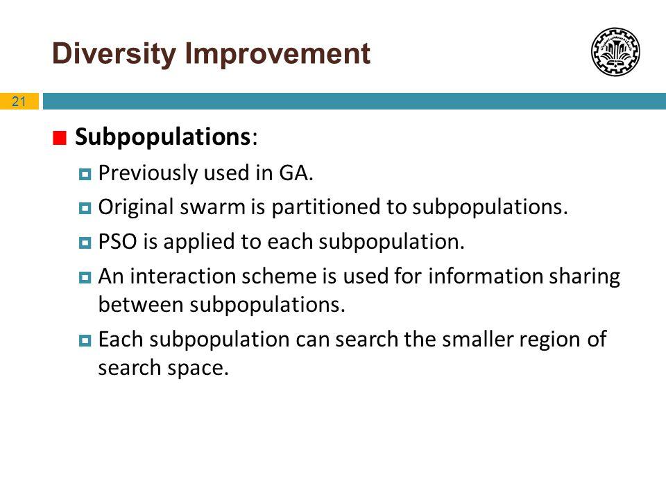 Diversity Improvement