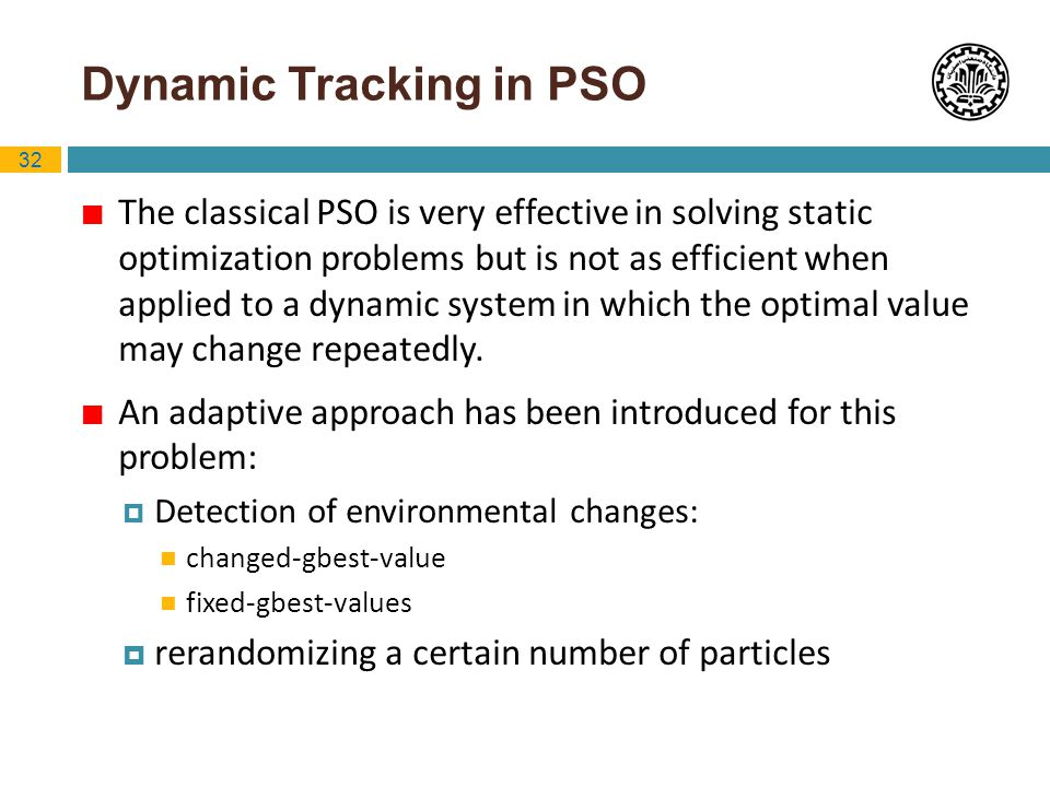 Dynamic Tracking in PSO