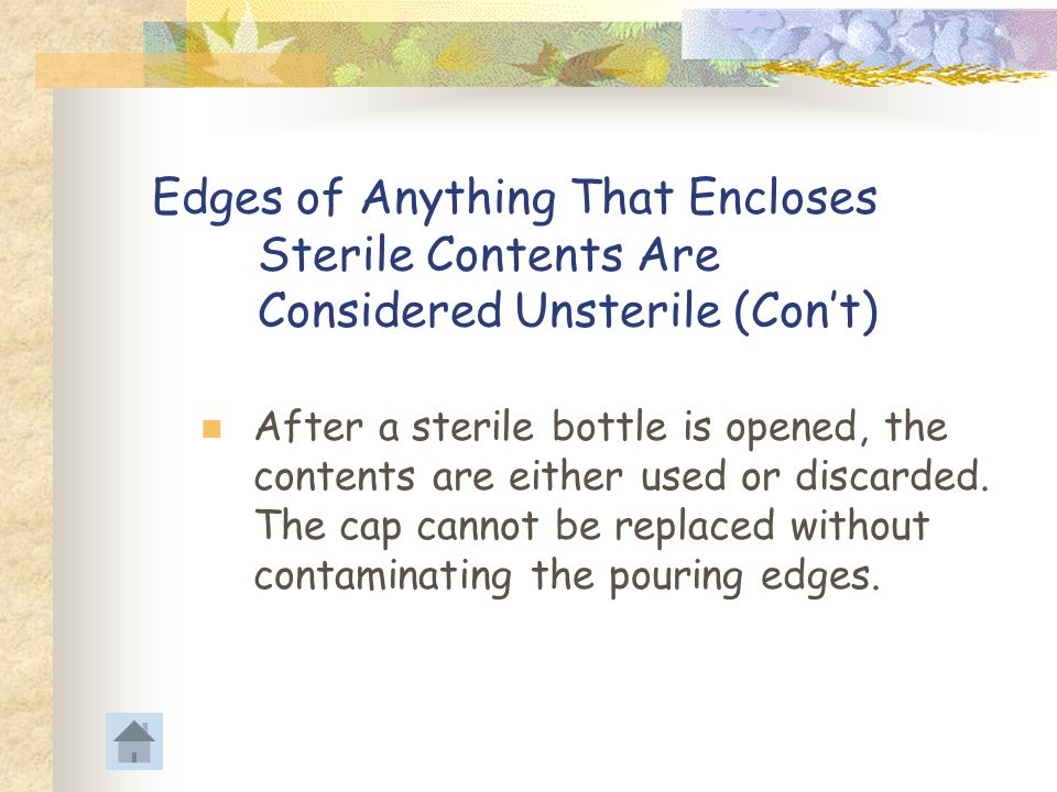 Edges of Anything That Encloses. Sterile Contents Are