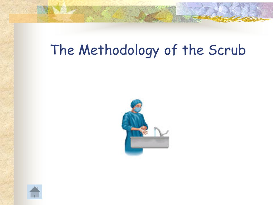 The Methodology of the Scrub