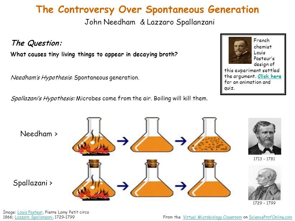 The Controversy Over Spontaneous Generation John Needham & Lazzaro Spallanzani