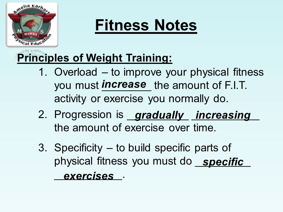 Principles of Weight Training: