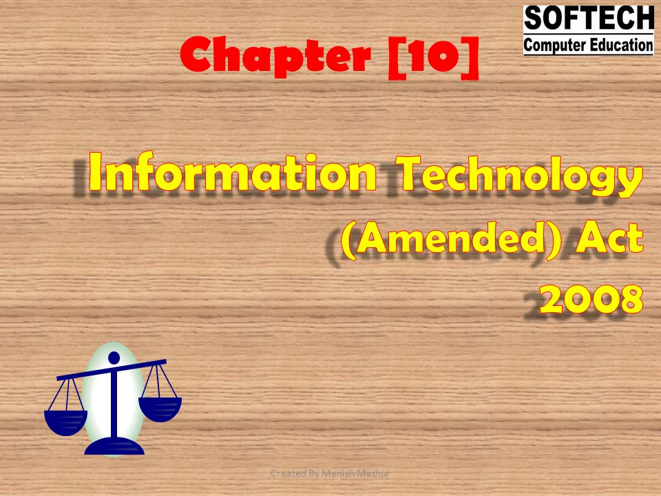 Information Technology (Amended) Act 2008