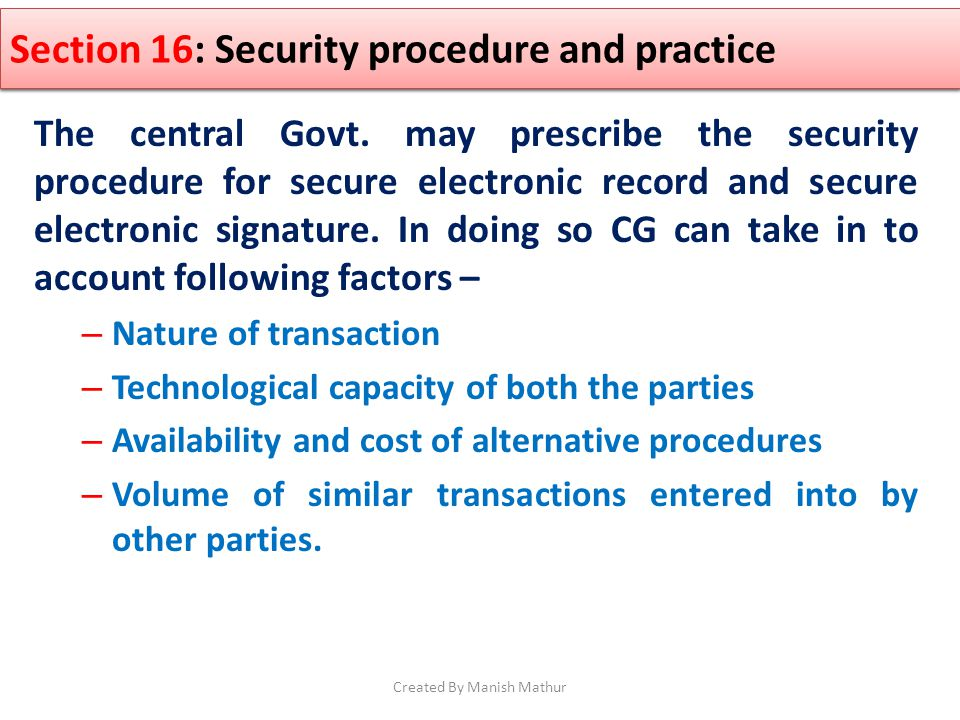 Section 11 : Attribution of Electronic record