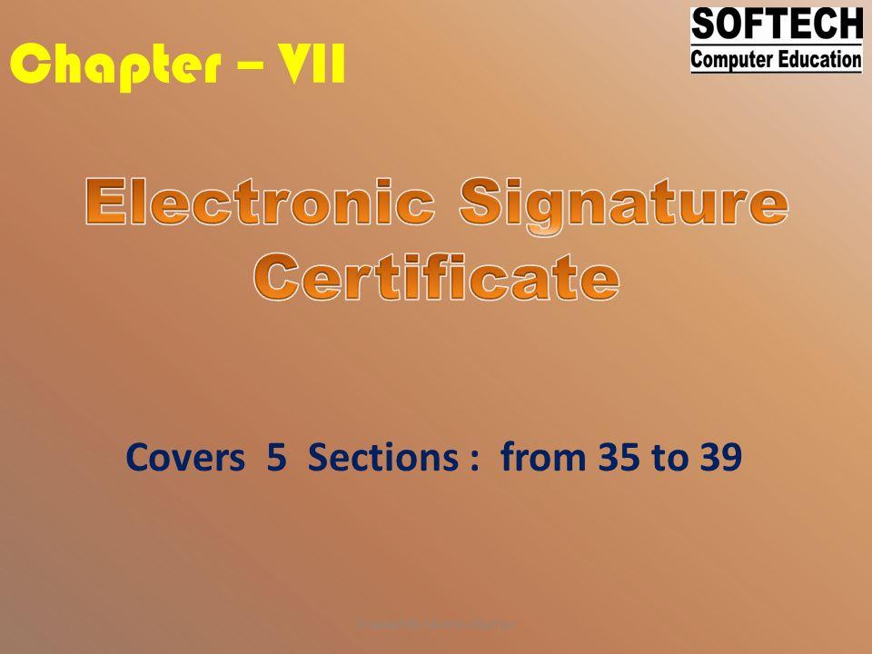Electronic Signature Certificate