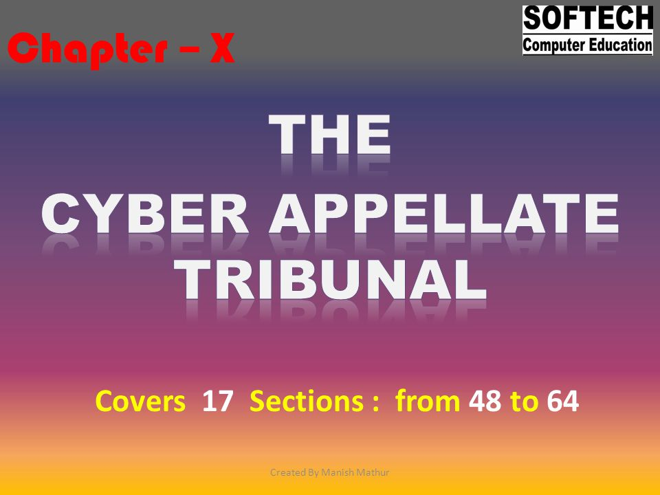 The cyber appellate tribunal
