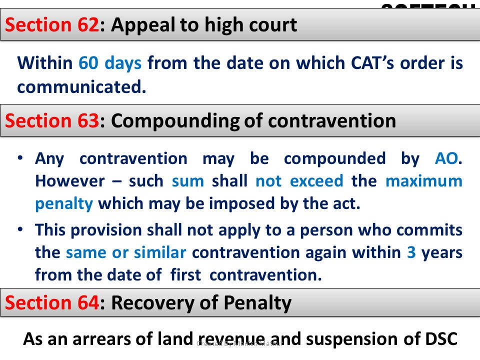 As an arrears of land revenue and suspension of DSC