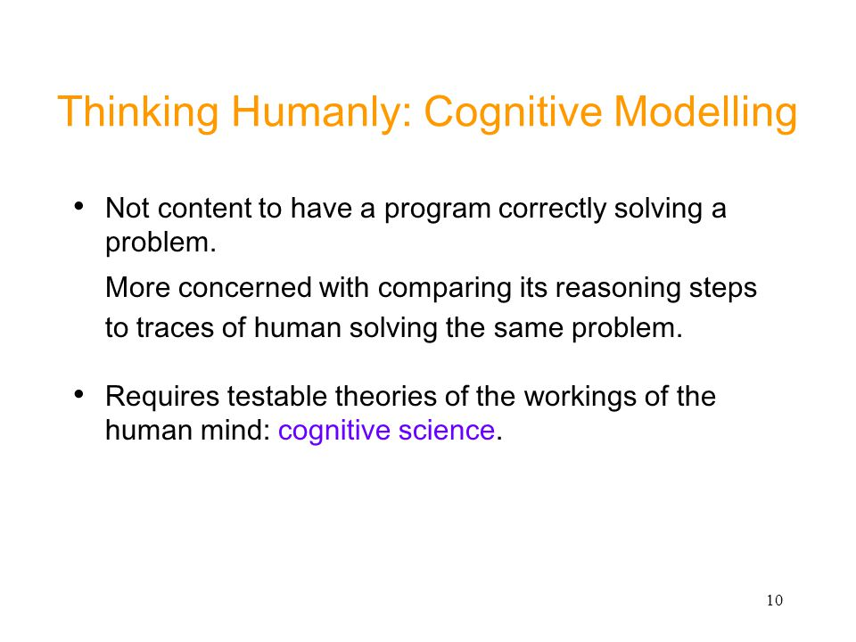 Thinking Humanly: Cognitive Modelling