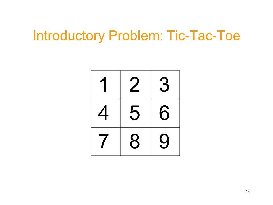 Introductory Problem: Tic-Tac-Toe