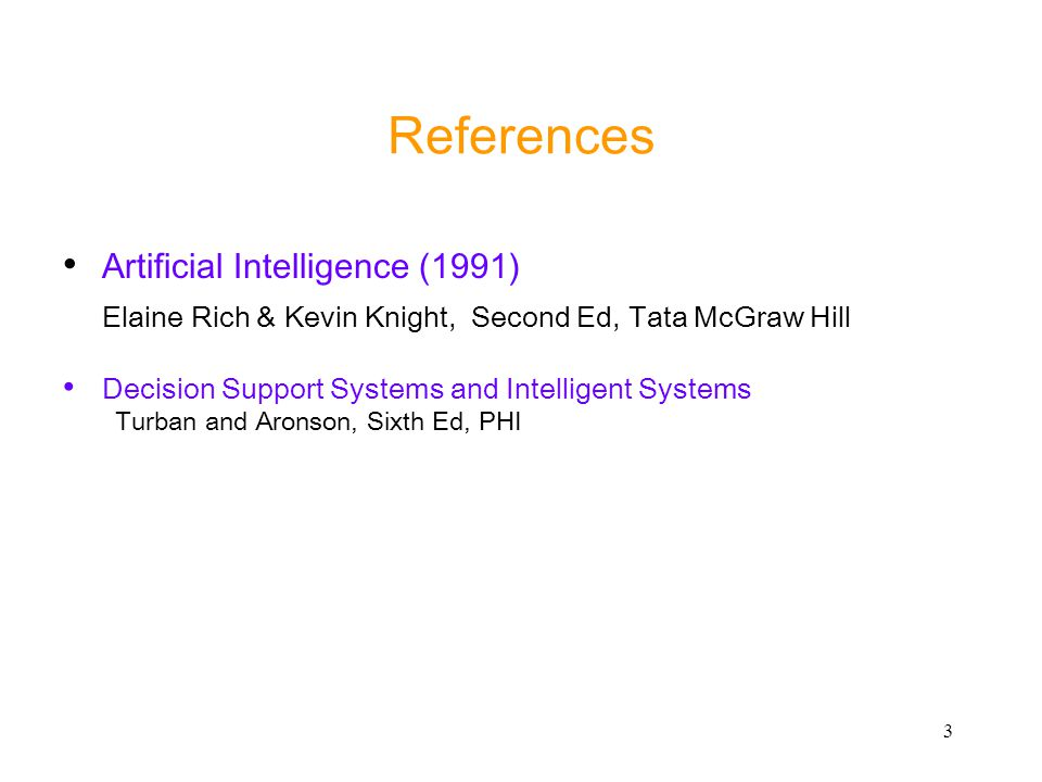 References Artificial Intelligence (1991)