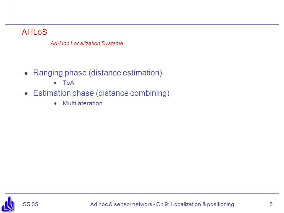 AHLoS Ad-Hoc Localization Systeme