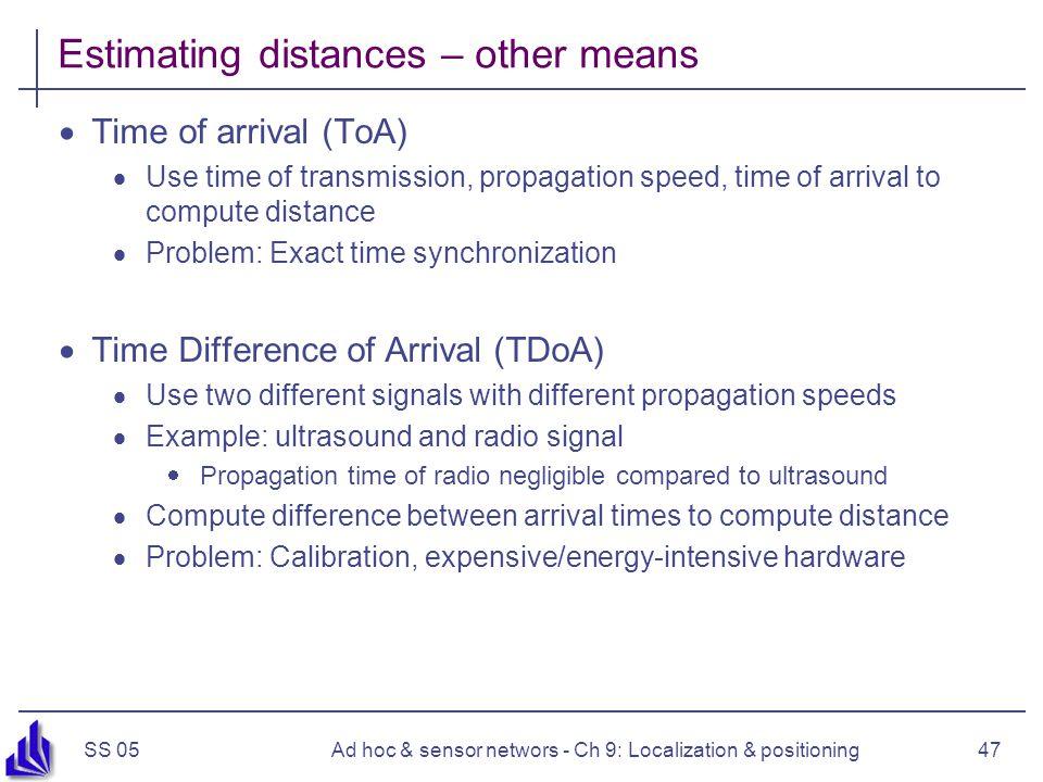 Estimating distances – other means