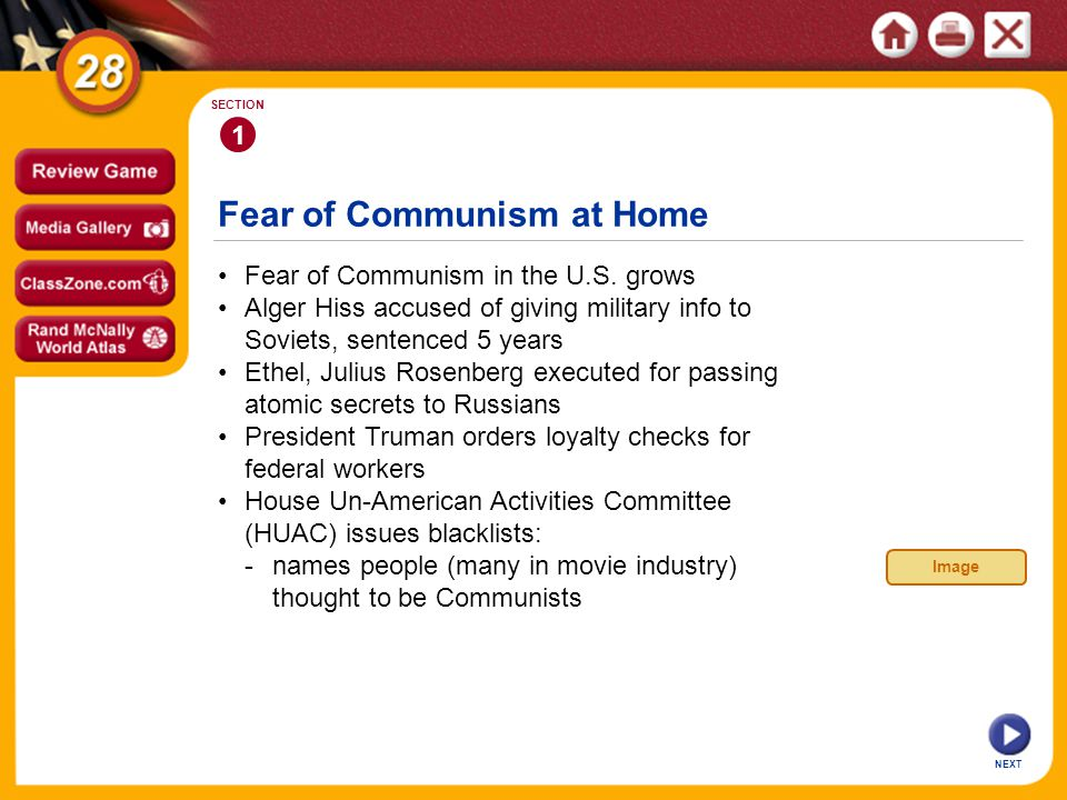 Fear of Communism at Home