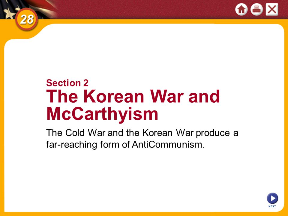 The Korean War and McCarthyism