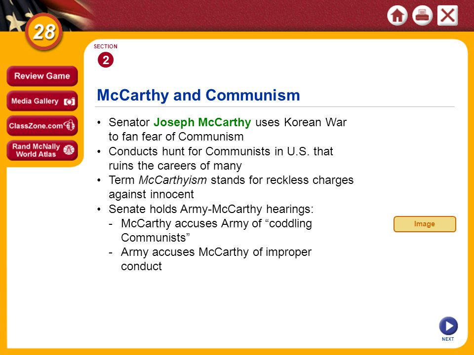 McCarthy and Communism