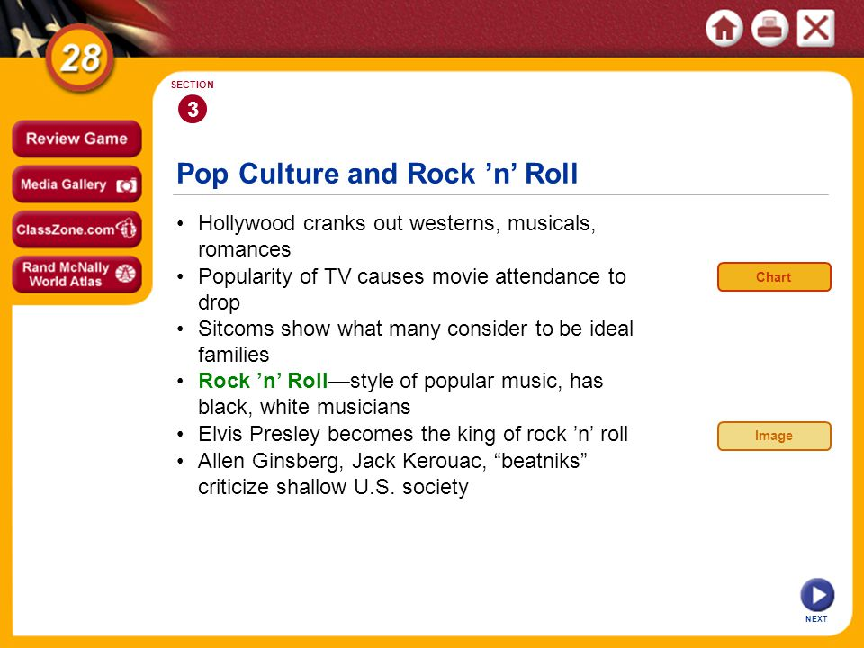 Pop Culture and Rock 'n' Roll