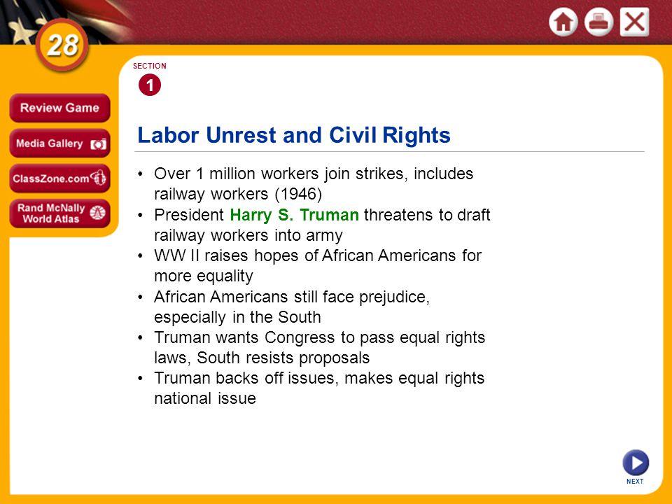 Labor Unrest and Civil Rights