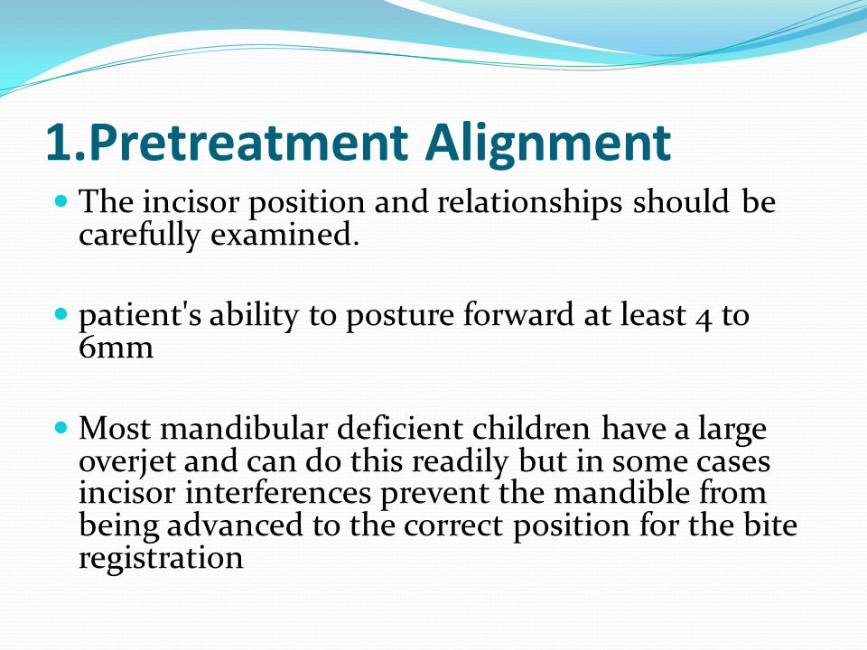 1.Pretreatment Alignment