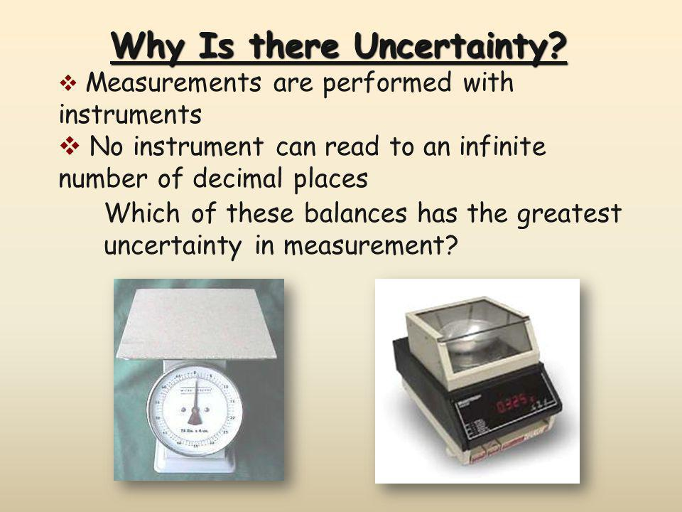 Why Is there Uncertainty