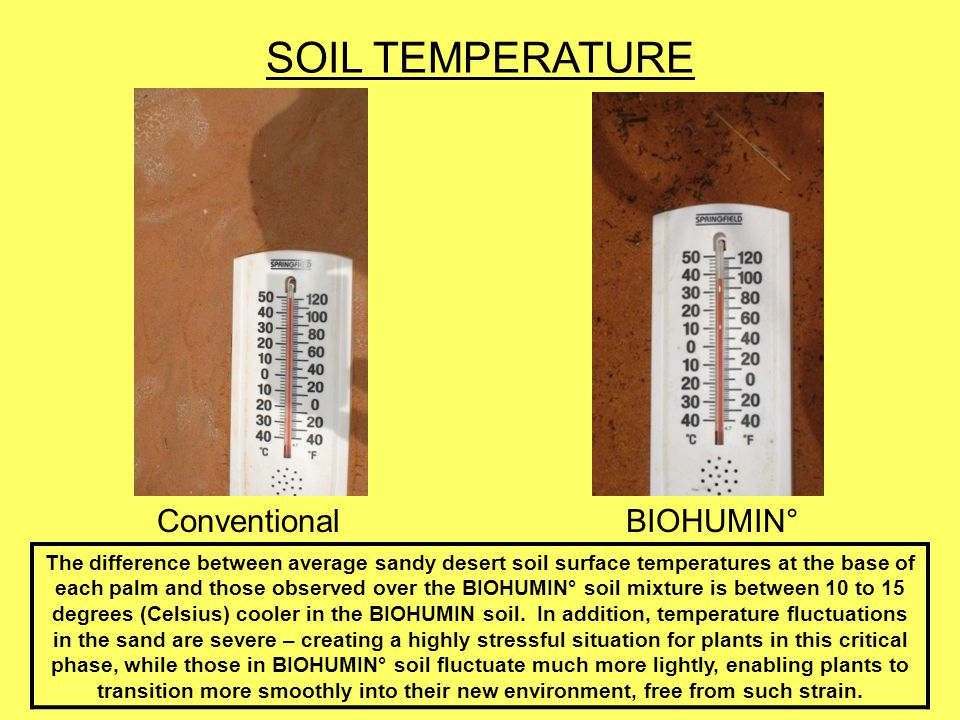 SOIL TEMPERATURE Conventional BIOHUMIN°