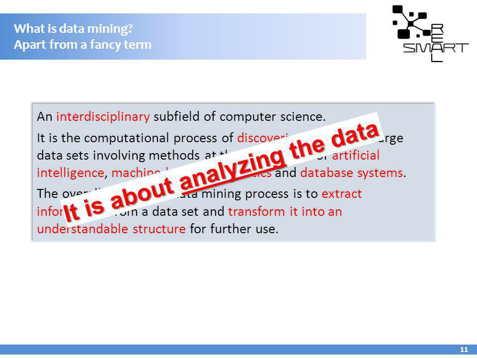 What is data mining Apart from a fancy term