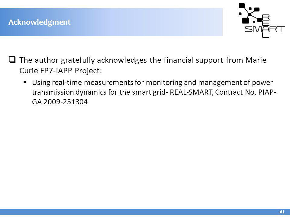 Acknowledgment The author gratefully acknowledges the financial support from Marie Curie FP7-IAPP Project: