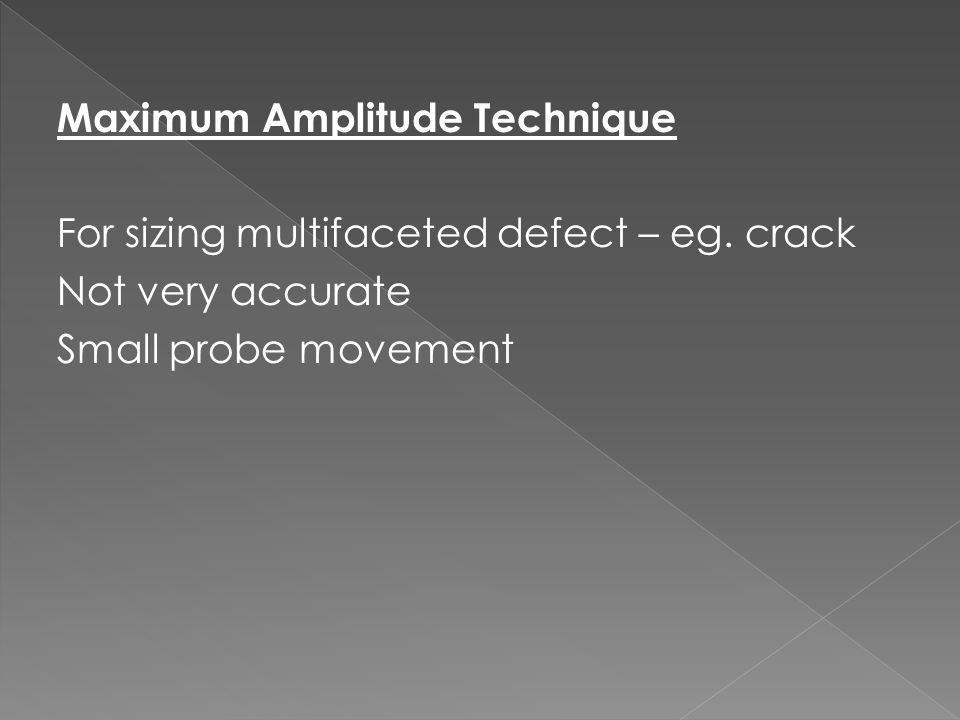 Maximum Amplitude Technique
