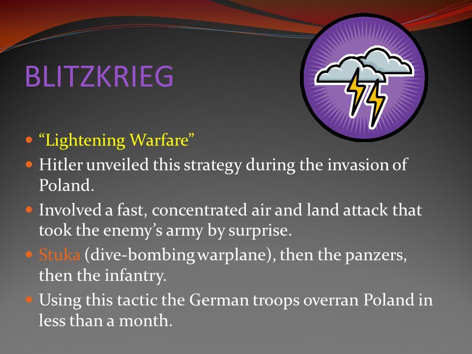 BLITZKRIEG Lightening Warfare