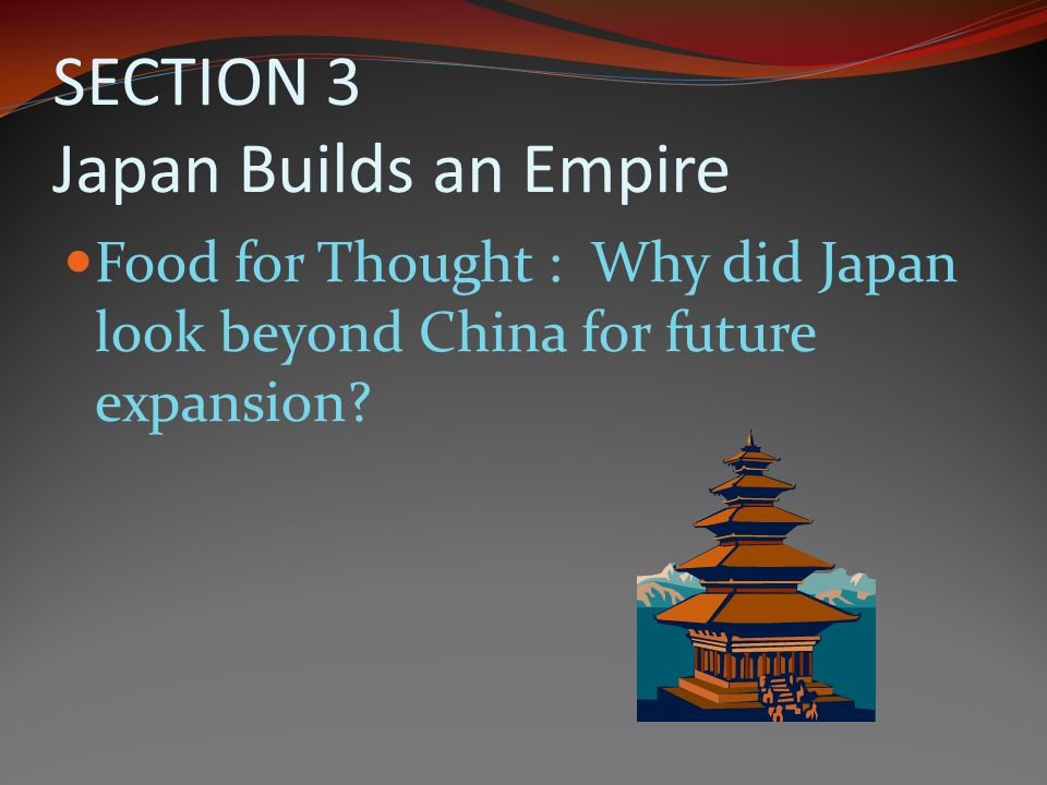 SECTION 3 Japan Builds an Empire